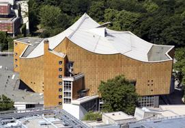Der Kammermusiksaal im Berliner Kulturforum nach Plänen von Hans Scharoun.