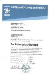 11 Sanierungsfachbetrieb gültig bis 30.09.2023